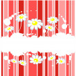 Striped floral background — Stock Photo