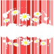 Striped floral background — Stock Photo #10611951