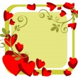 Stock Photo: Valentines frame
