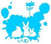Three rabbits — 图库照片