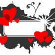 Valentines frame - Stock Photo