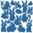 Rabbits background — Stock Photo