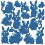 Rabbits background — Stock Photo