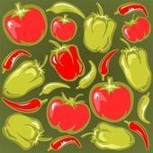 Vegetables background — Stock Photo