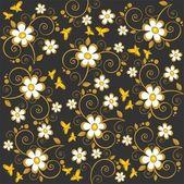 Dark floral background — Zdjęcie stockowe