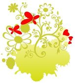 Green valentines pattern — Stock Photo