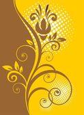 Kahverengi çiçek desenli — Stok fotoğraf