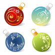 Stock Vector: Christmas balls set