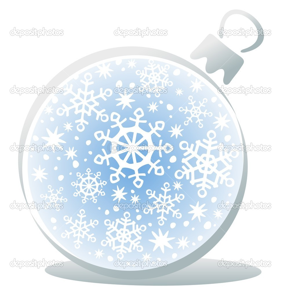 White Christmas ball isolated on a white background.  Stock Vector #8495501