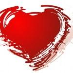 gestileerde hart — Stockvector