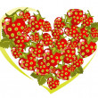 Royalty-Free Stock Vector Image: Strawberry heart