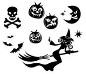 Halloween symbols set — Stock Vector
