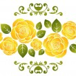 Stock Vector: Roses pattern