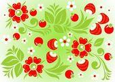 绿色花卉背景 — 图库矢量图片