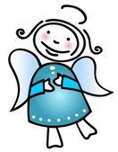 Christmas angel — Stock Vector