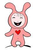 Happy rabbit — Stock Vector