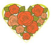 Květinové srdce — Stock vektor