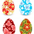 Four Easter eggs — Stock Vector