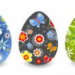Ornate Easter eggs — Vector de stock