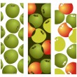Apples background — Stock Vector