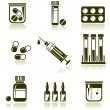 Medical icons set — Stock Vector #9594937