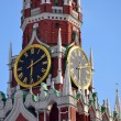 Hours on the Spassky tower of the Moscow Kremlin — Stock Photo