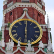 Stock Photo: Hours on the Spassky tower of the Moscow Kremlin