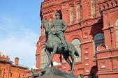 Monumento a george zhukov — Foto Stock