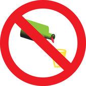 Ondertekenen verbiedt het drinken van alcohol dranken — Stockvector
