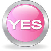 """The pink button with """"YES"""" — Stock Vector"""