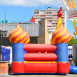 Stock Photo: Bouncy castle, trampoline day of Balashikha