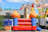 Bouncy castle, trampoline day of Balashikha — Stock Photo