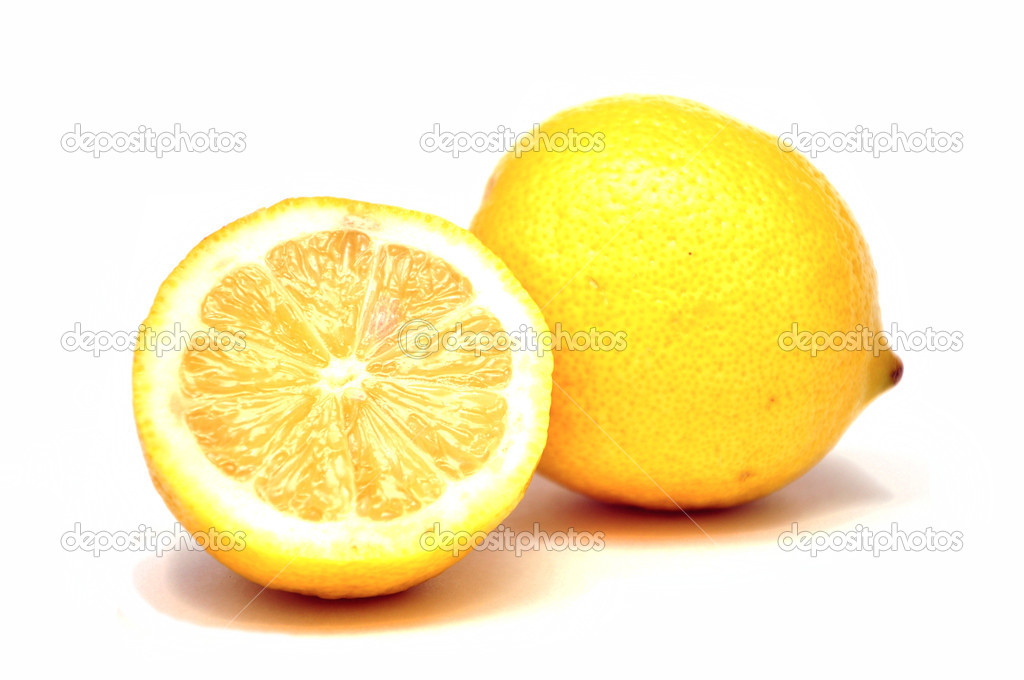 	Lemon on wet surface, studio still life  Stock Photo #9089479