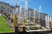 Peterhof Grand Cascade — Stock Photo
