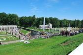 Parco inferiore di peterhof — Foto Stock