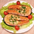 Salmon steak — Stock Photo #9178655