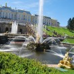 Grand Cascade Fountains At Peterhof Palace — Stock Photo