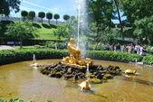 Triton fountain, Peterhof — Stock Photo