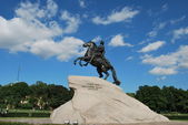 The Bronze Horseman monument — Stock Photo