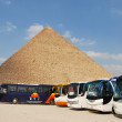 Stock Photo: Egyptipyramid and busses