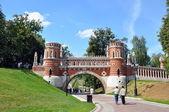 Puente en tsaritsino, moscú — Foto de Stock