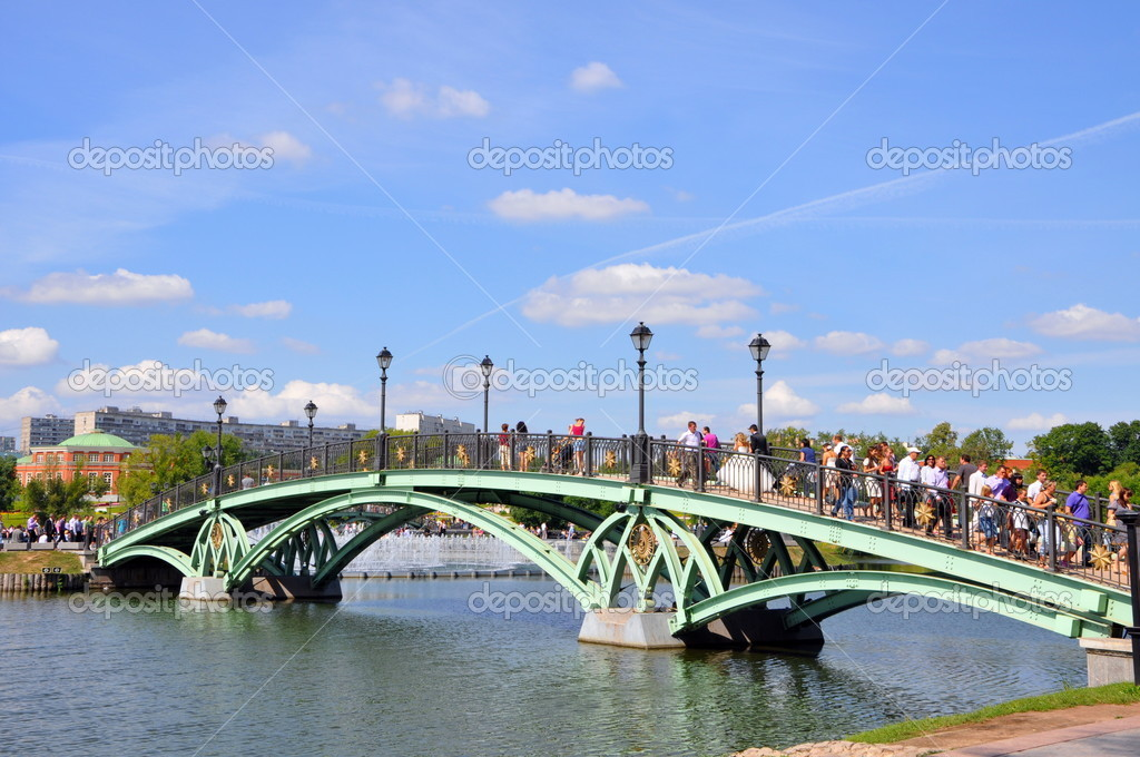 Bridge in a Tsaritsino — Stock Photo #9622454