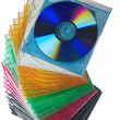CD cases. — Stock Photo