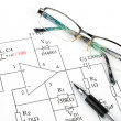 Circuit diagram - Stock Photo