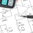 Circuit diagram — Stockfoto