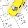 Circuit diagram and toy car — Stock Photo #10028505