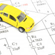 Circuit diagram and toy car — Stock Photo #10028516
