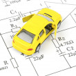 Circuit diagram and toy car — Stock Photo #10028528