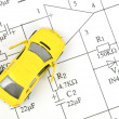 Circuit diagram and toy car — Stock Photo #10028560