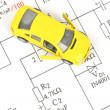Circuit diagram and toy car — Stock Photo #10028579